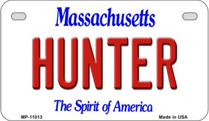 Hunter Massachusetts Wholesale Novelty Metal Motorcycle Plate MP-11013