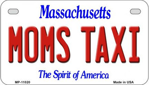 Moms Taxi Massachusetts Wholesale Novelty Metal Motorcycle Plate MP-11020