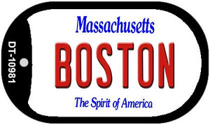 Boston Massachusetts Wholesale Novelty Metal Dog Tag Necklace DT-10981