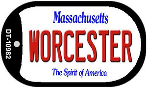 Worcester Massachusetts Wholesale Novelty Metal Dog Tag Necklace DT-10982