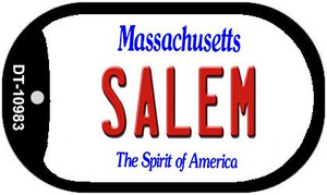 Salem Massachusetts Wholesale Novelty Metal Dog Tag Necklace DT-10983