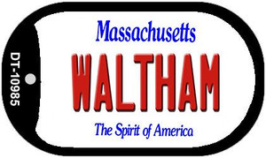Waltham Massachusetts Wholesale Novelty Metal Dog Tag Necklace DT-10985