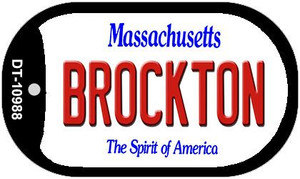 Brockton Massachusetts Wholesale Novelty Metal Dog Tag Necklace DT-10988