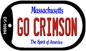 Go Crimson Massachusetts Wholesale Novelty Metal Dog Tag Necklace DT-10994