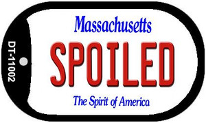 Spoiled Massachusetts Wholesale Novelty Metal Dog Tag Necklace DT-11002