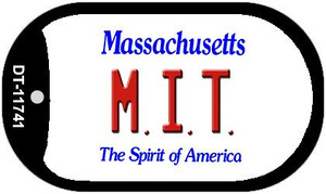 MIT Massachusetts Wholesale Novelty Metal Dog Tag Necklace DT-11741