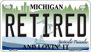 Retired Michigan Wholesale Novelty Metal Motorcycle Plate MP-4754