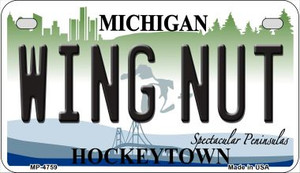 Wing Nut Michigan Wholesale Novelty Metal Motorcycle Plate MP-4759