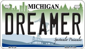Dreamer Michigan Wholesale Novelty Metal Motorcycle Plate MP-6126