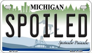 Spoiled Michigan Wholesale Novelty Metal Motorcycle Plate MP-6129
