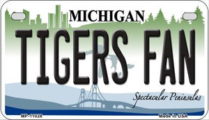 Tigers Fan Michigan Wholesale Novelty Metal Motorcycle Plate MP-11028