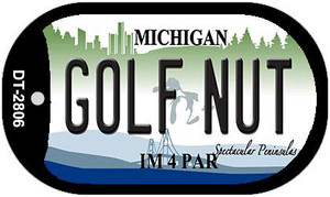 Golf Nut Michigan Wholesale Novelty Metal Dog Tag Necklace DT-2806
