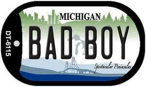 Bad Boy Michigan Wholesale Novelty Metal Dog Tag Necklace DT-6115