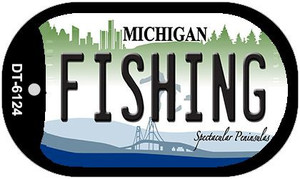 Fishing Michigan Wholesale Novelty Metal Dog Tag Necklace DT-6124