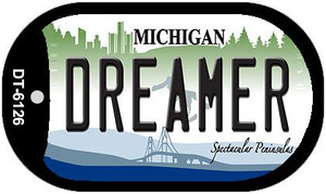 Dreamer Michigan Wholesale Novelty Metal Dog Tag Necklace DT-6126