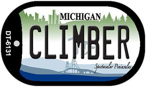 Climber Michigan Wholesale Novelty Metal Dog Tag Necklace DT-6131