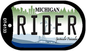Rider Michigan Wholesale Novelty Metal Dog Tag Necklace DT-6133