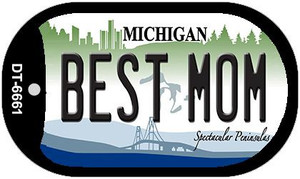 Best Mom Michigan Wholesale Novelty Metal Dog Tag Necklace DT-6661