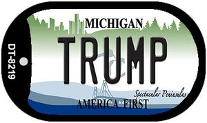 Trump Michigan Wholesale Novelty Metal Dog Tag Necklace DT-8219