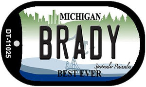 Brady Michigan Wholesale Novelty Metal Dog Tag Necklace DT-11025