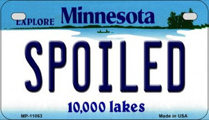 Spoiled Minnesota Wholesale Novelty Metal Motorcycle Plate MP-11063