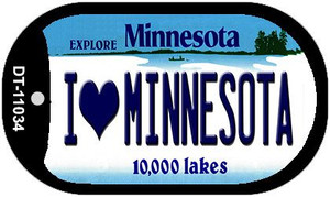 I Love Minnesota Wholesale Novelty Metal Dog Tag Necklace DT-11034