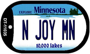 N Joy MN Minnesota Wholesale Novelty Metal Dog Tag Necklace DT-11035
