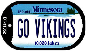Go Vikings Minnesota Wholesale Novelty Metal Dog Tag Necklace DT-11052
