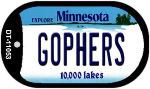 Gophers Minnesota Wholesale Novelty Metal Dog Tag Necklace DT-11053