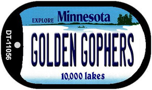 Golden Gophers Minnesota Wholesale Novelty Metal Dog Tag Necklace DT-11056