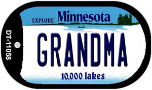 Grandma Minnesota Wholesale Novelty Metal Dog Tag Necklace DT-11058