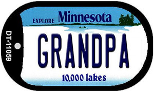 Grandpa Minnesota Wholesale Novelty Metal Dog Tag Necklace DT-11059
