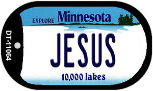 Jesus Minnesota Wholesale Novelty Metal Dog Tag Necklace DT-11064