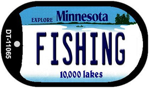 Fishing Minnesota Wholesale Novelty Metal Dog Tag Necklace DT-11065