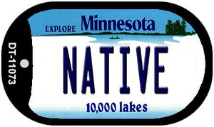 Native Minnesota Wholesale Novelty Metal Dog Tag Necklace DT-11073