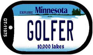 Golfer Minnesota Wholesale Novelty Metal Dog Tag Necklace DT-11075
