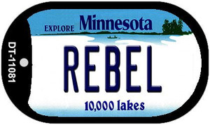 Rebel Minnesota Wholesale Novelty Metal Dog Tag Necklace DT-11081