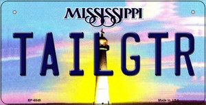 Tailgtr Mississippi Wholesale Novelty Metal Bicycle Plate BP-6549