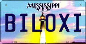 Biloxi Mississippi Wholesale Novelty Metal Bicycle Plate BP-6556