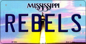 Rebels Mississippi Wholesale Novelty Metal Bicycle Plate BP-6564