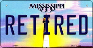 Retired Mississippi Wholesale Novelty Metal Bicycle Plate BP-6572