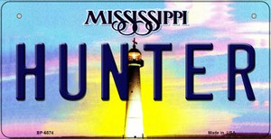 Hunter Mississippi Wholesale Novelty Metal Bicycle Plate BP-6574