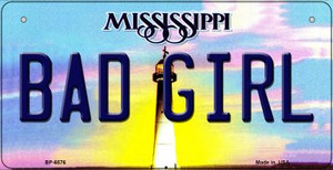 Bad Girl Mississippi Wholesale Novelty Metal Bicycle Plate BP-6576