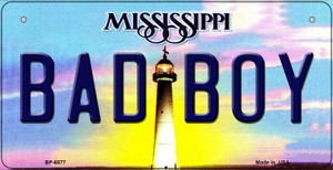Bad Boy Mississippi Wholesale Novelty Metal Bicycle Plate BP-6577