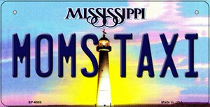 Moms Taxi Mississippi Wholesale Novelty Metal Bicycle Plate BP-6580