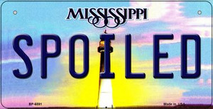 Spoiled Mississippi Wholesale Novelty Metal Bicycle Plate BP-6591
