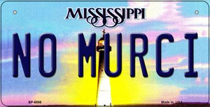 No Murci Mississippi Wholesale Novelty Metal Bicycle Plate BP-6595