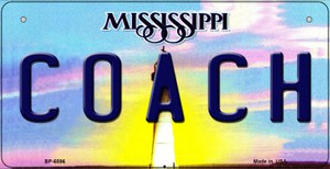 Coach Mississippi Wholesale Novelty Metal Bicycle Plate BP-6596