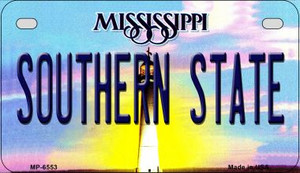 Southern State Mississippi Wholesale Novelty Metal Motorcycle Plate MP-6553