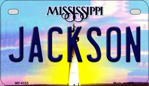 Jackson Mississippi Wholesale Novelty Metal Motorcycle Plate MP-6555